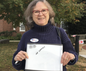 "Mary Pendergast voted with character in mind rather than issue, noting ""no crazies"" on her white board."